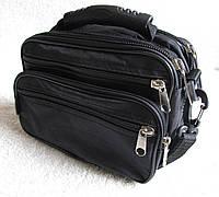 Мужская сумка Wallaby21231 черная барсетка через плечо 24х16х13см