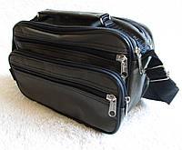 Мужская сумка через плечо барсетка деловая жатка 24х16х13см