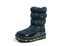 Детские зимние ботинки для девочек, искусственный лак + болонь, размеры  26-30