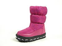 Детские зимние ботинки для девочек, искусственная кожа+болонь, размеры  27,28