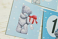Гирлянда С Днем рождения Мишка Тедди голубая