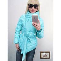 Куртка женская уголок-короткая голубая
