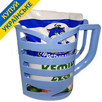 Кувшин-подставка для молочных пакетов 1л. Голубой