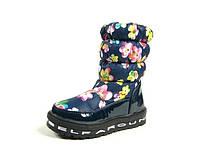 Детские зимние ботинки для девочек, искусственный лак + болонь, размеры  26,28,29