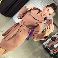 Женское демисезонное пальто из кашемира на подкладе с капюшоном Харьков.  Различные цвета Размеры 42- 08f6c02290e2d
