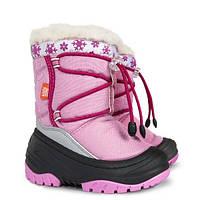 Детские зимние сапоги-дутики Demar (Демар) Фуззи розовые р.20--29 теплющие, есть опт