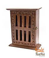 Деревянная ключница - шкафчик большая