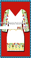 Белое женское платье (заготовка со схемой для вышивки),габардин,  до 52 р, 390/350 (цена за 1 шт. + 40 гр.)