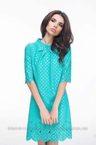 Платье женское с перфорацией