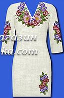 Женское платье в виде заготовки под вышивку, домотк. лен,  до 52 р, 440/400 (цена за 1 шт. + 40 гр.)