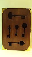 Ключница настенная деревянная «Ключи от волшебного замка» размер 30*20*5, фото 1