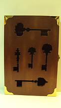 Ключниця настінна дерев'яна «Ключі від чарівного замку» розмір 30*20*5