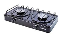 Газовая плита настольная двухконфорочная ЭЛНА ПГ2 -Н без крышки DI