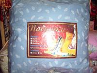 Подушка шариковый селикон 70*70 ткань тик