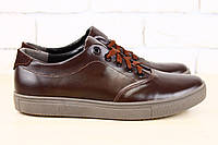 Кожаные туфли с оригинальной подошвой, коричневые
