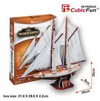 """3D-конструктор CubicFun """"Двухмачтовая шхуна"""""""