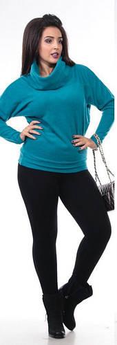 Кофта-туника женская с хомутом полубатал