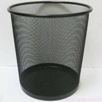 Корзина для мусора J.Otten металлич. кругл. черная 26х28см. 1980 (20) [500136]