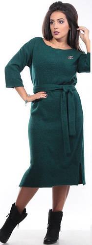 Платье женское пояс полубатал