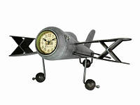 Большие часы в ретро стиле Самолет