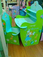 """Детская парта для девочек """"Маленькая фея"""" W 010 со стульчиком. киев, фото 1"""