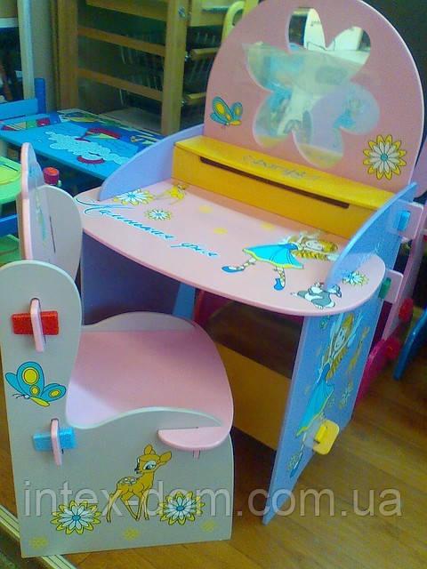 Детская стол-парта «Маленькая фея» W011. кинв