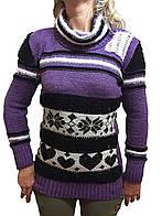 Женский свитер вяхзаный