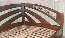 """Деревянная угловая кровать """"Радуга"""" (200*120), массив - ольха, покрытие - """"лесной орех"""" (№44)"""