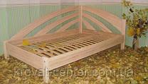 """Деревянная угловая кровать """"Радуга"""" (200*120), массив - ольха."""