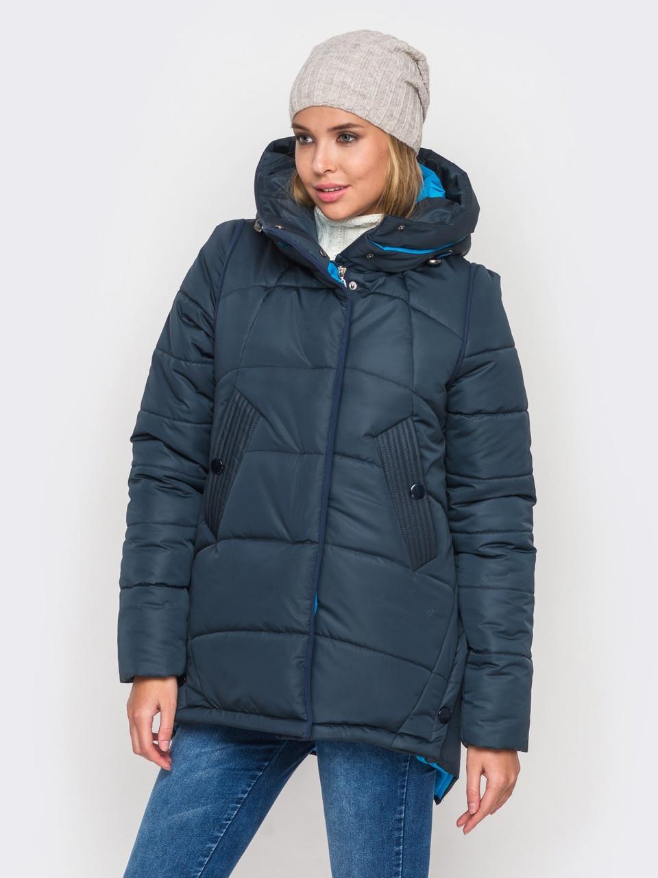 Зимняя женская куртка утепленная Мерседес-1 на силиконе