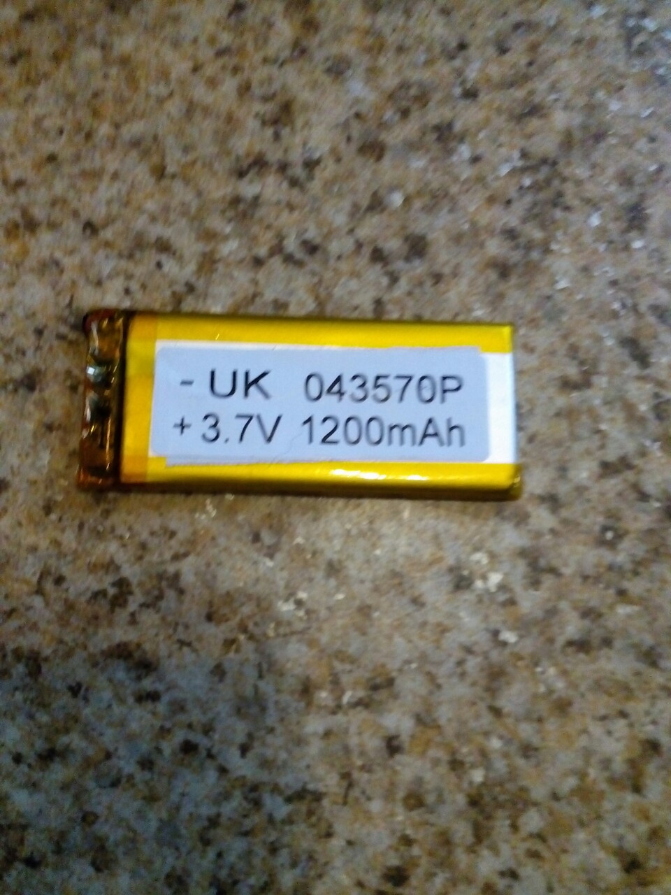Батарея для автонавигаторов 043570P  (78×32×3 мм), (Li-Polymer 3.7V 1200мАч)