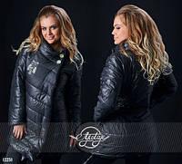 Куртка Зимняя женская чёрная Батал