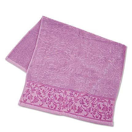 Махровое полотенце с отделкой ТМ Ярослав, 50х90 см, фото 2