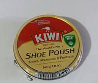 Крем для обуви Kiwi Киви оригинал бесцветный шайба