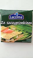 Сыр тостерный LACTIMA с зеленым луком Польша 130г