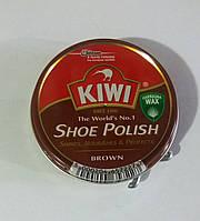Крем для обуви Kiwi Киви оригинал коричневый шайба