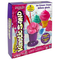 Набор песка для детского творчества - KINETIC SAND ICE CREAM (розовый, формочки, 283 г). Арт. 71417-1