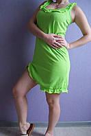 Женская ночная рубашка Анжелика (однотонная зеленая)