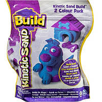Песок для детского творчества - KINETIC SAND BUILD (голубой - 227 г, фиолетовый - 227 г). Арт. 71428BP