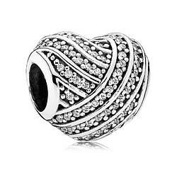 Подвеска-шарм из серебра «Линии любви»