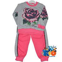 """Костюм детский """"Roses"""" , трикотаж (флис) , для девочек от 3-5 лет"""