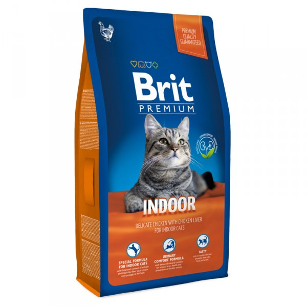 Brit Premium Cat Indoor 300 g для кошек живущих в помещении