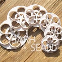 Вырубка для мастики Роза профф набор из 6 шт