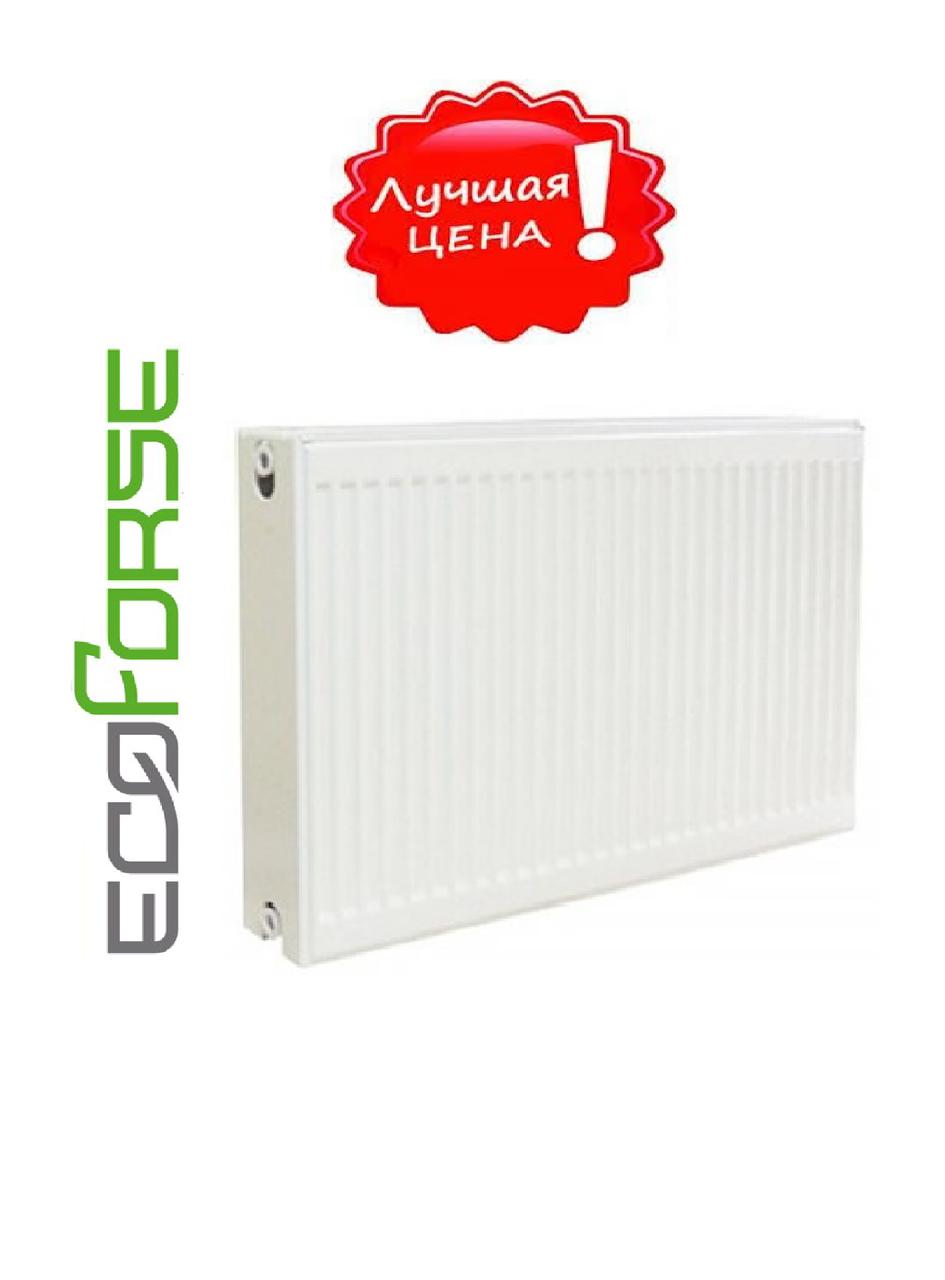 Стальной Радиатор отопления (батарея) 500x500 тип 22 EcoForse (боковое подключение)