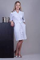 Женский медицинский халат с поясом (коттон)