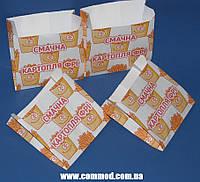 Упаковка бумажная для Картофеля Фри 100 х 100 х 50 мм с рисунком 1000 штук арт. 7.287