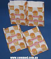Упаковка бумажная для Картофеля Фри 170 х 100 х 50 мм с рисунком 1000 штук арт. 7.256