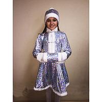 Детский карнавальный костюм Снегурочка Снегурка Хрустальная голограмма (30-40)