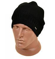 Черная вязанная шапка для мужчин