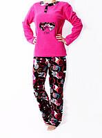 Молодежная женская пижама малинового цвета